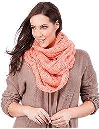 Ladies Soft Triple Twist Loose Knit Snood Scarf