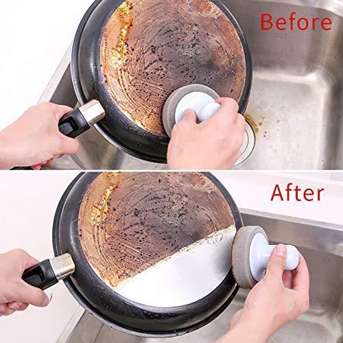 Schwämme Küche Nano Emery Magic Clean Reiben Topf Rost Focal Flecken Schwammbürste Küche Haushalt Wohnen Reinigungsmittel Geschirrreinigung Basteln Malen Nähen Malen