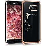 kwmobile Étui transparent élégant avec Design fée pour Samsung Galaxy S7 edge en cuivre transparent