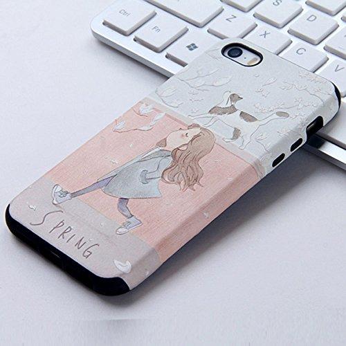 UKDANDANWEI Apple iPhone 5S Hülle - TPU 3D Silikon Schutzhülle Handyhülle kratzfeste stoßdämpfende Case für Apple iPhone SE/5/5S [CCD002] CCD002