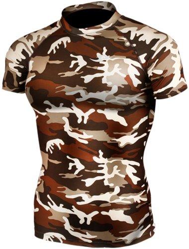 new-063-peau-compression-base-couche-camo-t-shirt-a-manches-courtes-pour-homme-multicolore-medium