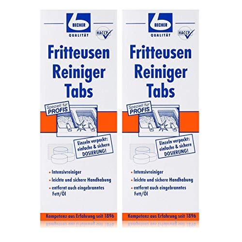 Dr. Becher Fritteusen Reiniger Tabs 500g - Kraftvolle Reinigung (2er Pack)