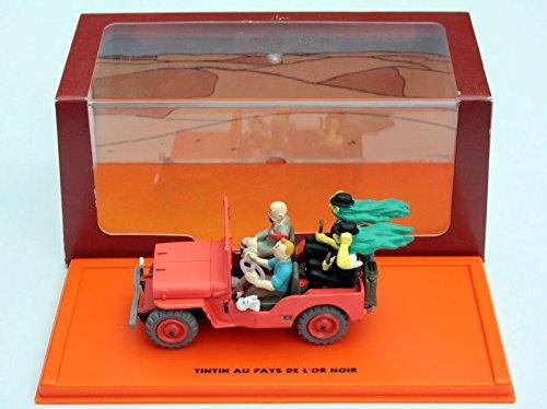 Willys MB, rojo, con figurinas de Tim & Struppi , 1943, Modelo de Auto, modello completo, SpecialC.-64 1:43