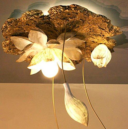 FWEF Ristorante Ristorante Lampadari In Resina Foglia Di Loto Di Illuminazione Di Loto Su Misura Personalizzato Lampade Erranti Loto Led