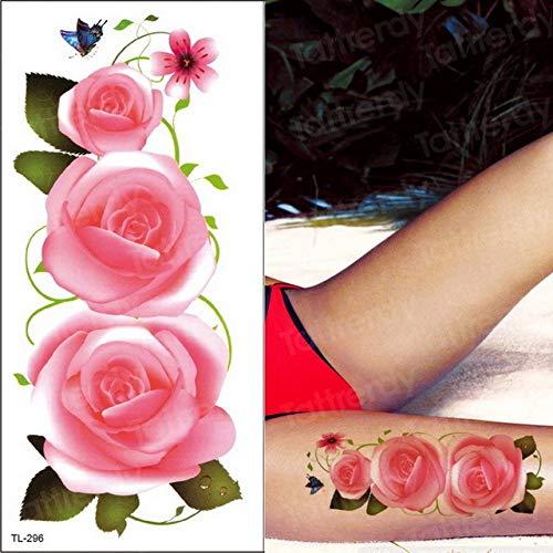 Handaxian 3pcsTattoo Sticker Blume Tattoo Frau Make-up Entferner Tattoo blau lila Blume Tattoo und Body Art Sticker Bikini Sommer -