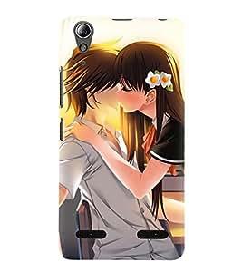Love Couple 3D Hard Polycarbonate Designer Back Case Cover for Lenovo A6000 :: Lenovo A6000 Plus :: Lenovo A6000+