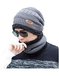 9173b8e7 Alexvyan Grey Certified Imported 1 Set Snow Proof (Inside Fur) Unisex  Woolen Beanie Cap