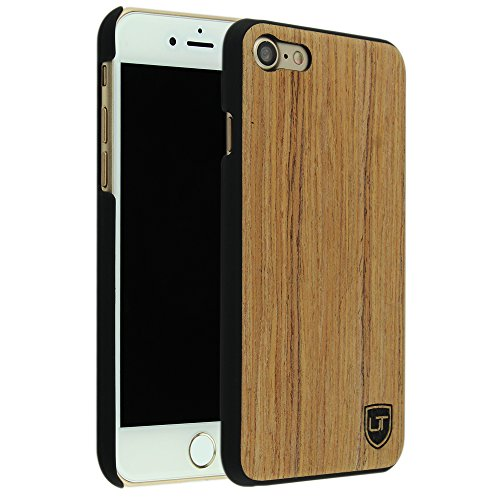 iPhone 7 / 8 Holzhülle Cover ** Eco Echt Holz - Ultra-Slim ** Einzigartiges Desgin ** Perfekte Passgenauigkeit ** Woodcase by UTECTION® in Abachiholz (Iphone 4 Body Armor Hybrid Case)
