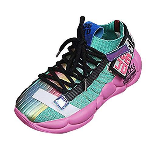 feiXIANG Damen Sneaker Running Laufschuhe Sportschuhe Mode Freizeitschuhe Student Straßentanz Schuhe (Grün,37CN=36EU) -