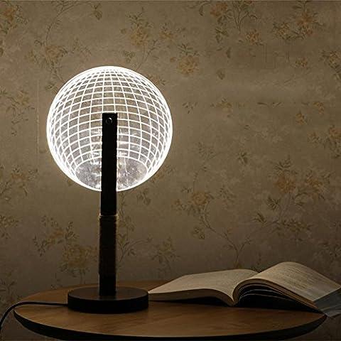 IAGM Lampe de Bureau Creative Home Acrylic Vision 3D Night Light LED Eye Protection Bedroom Drap de chambre à coucher , B
