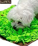 funPETic Schnüffelteppich Handgefertigt 45 x 50 cm – verhindert Schlingen, Schnüffeldecke fördert natürliche Nahrungssuche und artgerechte Auslastung, Intelligenz-Spielzeug für Hunde und Katzen - 6