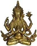 Exotic India Tibetisch-buddhistischen Gottheit Chenrezig –Messing Statue