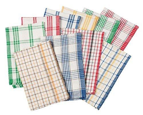 WalterDrake Plaid Küche Handtücher, Set von 10