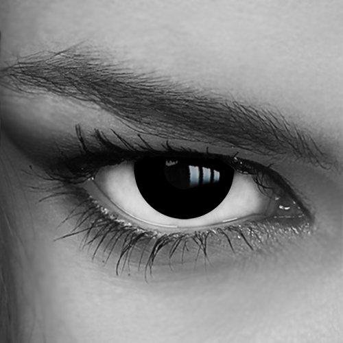 Motivlinsen - Kontaktlinsen farbig - Black Out (014) - Crazy Fun Helloween Party - Markenprodukt von LUXDELUX®