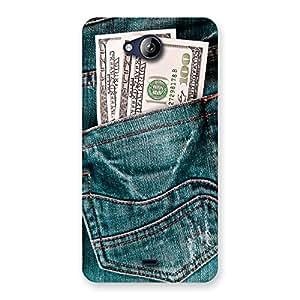 Impressive Pocket Full Jeans Multicolor Back Case Cover for Canvas Play Q355