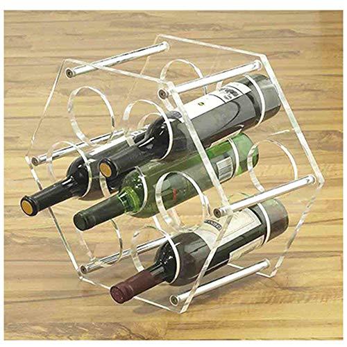 mwater Weinregal, klein, Acryl, für 7 Flaschen