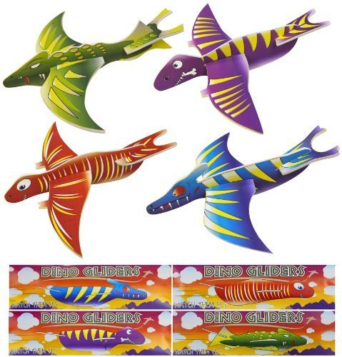 Image of 12x Dinosaur Gliders (4 Assorted Designs)