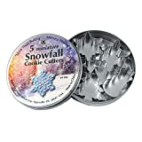 R&M International 1986 Mini Snowfall Cookie Cutters, Snowman, Tree, 3 Snowflakes, 5-Piece Set