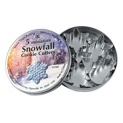 R&M International 1986 Mini Snowfall Cookie Cutters, Snowman, Tree, 3 Snowflakes, 5-Piece Set Bug Cookie Cutter