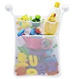 PriMI Aufbewahrungstasche aus Netzstoff für die Badewanne, für Baby-Spielzeug, mit Saugnäpfen