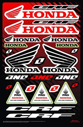 KIT STICKERS FOX HONDA CRF ADESIVI SPONSOR MOTO YAMAHA KTM CROSS ENDURO CASCO (31)