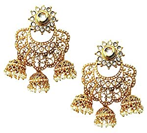 Shining Diva 18k Gold Plated Fancy Party Wear Jhumka / Jhumki Traditional Earrings for Women & Girls