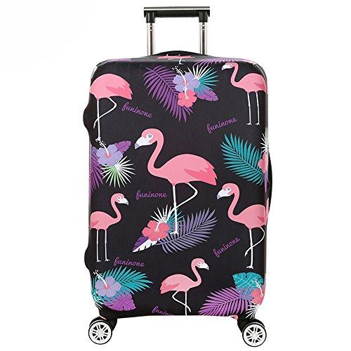 Cover Proteggi Valigia Elasticizzata in forma Flamingo 18-32 pollici Suitcase Cover Cover Proteggi bagagli protettore dei bagagli valigia (fenicottero 5, M)