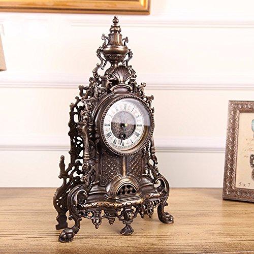 KHSKX Europei e Americani Francia decorativi soggiorno e caminetto in ottone solido orologio orologio classico orologio