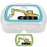 Lunchbox mit Fahrzeugmuster, personalisierbar