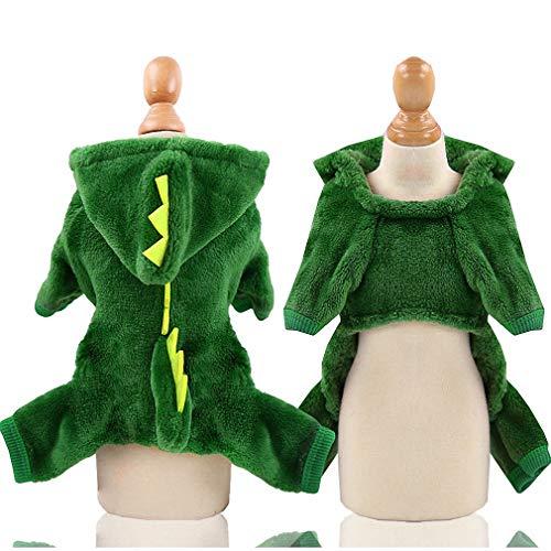 D'halloween Original Kostüm - Korallen Vlies Haustier Welpen T-Shirt für Klein- und Mittelunter Hunde Hunde Warm HoodiesMantel Kleidung,D,XS