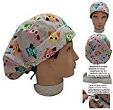 Scrub hat theatre cap OLWS for Long Hair with sweatband and ajutable to your liking Handmade Surgery, Nurse, Veterinary, dentist
