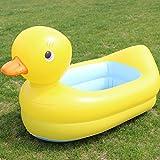 Aufblasbare ente badewanne, Verdicken sie Falten Baby-badewanne, Aufblasbare ente baby-badewanne-A 95x50cm(37x20inch)