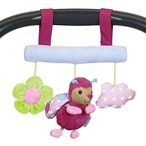 Sterntaler Spielzeug zum Aufhängen mit Klettverschluss, Käfer Katharina, Inklusive Rassel, Alter: Für Babys ab der Geburt, Mehrfarbig