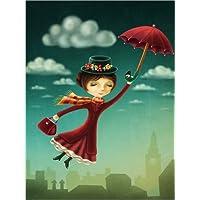 Posterlounge Impresión en metacrilato 100 x 130 cm: Mary Poppins de Elena Schweitzer