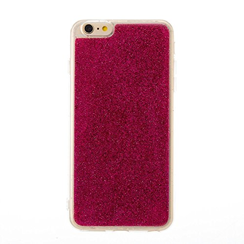 Soft Flexible Silikon TPU Gel Cover Case [Anti-Kratzer] Glänzende Glitter 360 ° Full Coverage Back Cover [Shockproof] für iPhone 6 Plus & 6s Plus ( Color : Green ) Red