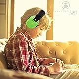 Gehörschutz Kinder Baby Kapselgehörschutz - Compact Faltbar und Komfortabel Gehoerschutz - Zusammenklappbarer Verstellbare Stirnband Kapsel Gehörschutz Ohrenschützer für Kinder Erwachsene Männer Frauen - 2 Jahre Garantie ( Grün )