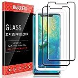 MASCHERI Schutzfolie Für Huawei Mate 20 Pro Panzerglas,[2 Stück] Bildschirmschutzfolie Bildschirmschutz Glas Folie Für Huawei Mate 20 Pro - Schwarz