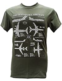 RAF Transport Aircraft - British & US Planes / Military T Shirt with blueprint design