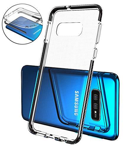 Mobiusphy Kompatibel Samsung Galaxy S10e Hülle, Handyhülle für Samsung Galaxy S10e Handy Schutzhülle Transparent TPU Silikon Dünn Cover Ultra Slim Case Durchsichtig Stoßfest Anti-Fingerprint schwarz