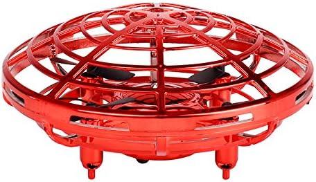 Lispeed UFO Jouet Mini Quadcopter Drone Induction Induction Induction Induction Induction Rc Boule de Moustiquaire Portable Cylindrique Quadrocoptère Automatique Empêche Les Obstacles Rot Rouge   Beau Design  b8e72b