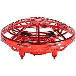 Surenhap Drone de inducción de Infrarrojos Mini Juguete de avión Colorido Regalo de Juguete de Juguete Volador para Adolescentes - Rojo