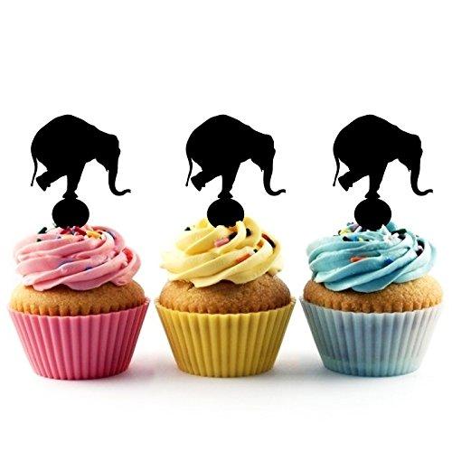 Circus Elephant Kuchenaufsätze Hochzeit Geburtsta Acryl Dekor Cupcake Kuchen Topper Stand für Kuchen Party Dekoration 10 Stück