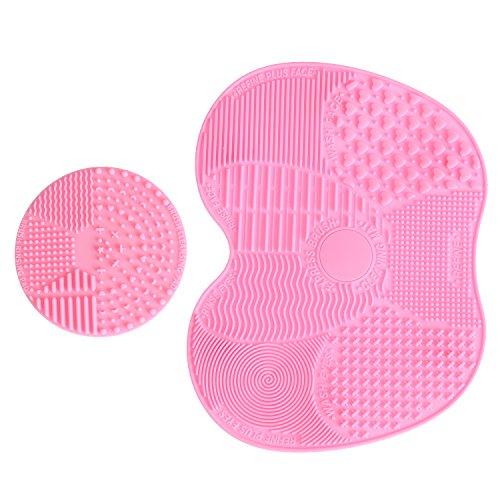 LEADSTAR 2 Stück Make Up Pinsel Reiniger Reinigung Massage Werkzeug Mat Bürste Silikon,