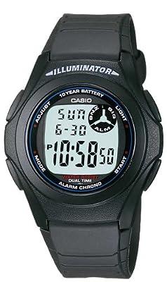 CASIO F-200W-1AEF - Reloj de caballero de cuarzo, correa de resina color negro