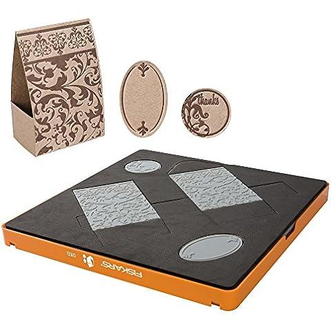 Fiskars Fuse© - Set per la creazione di accessori design in cartoncino, 30 x 30 cm, idea regalo - Fiskars Goffratura Piastre