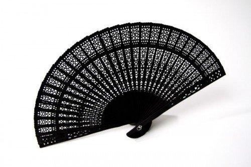 NeoTrade Holz-Fächer schwarz 20cm Einheitsgröße