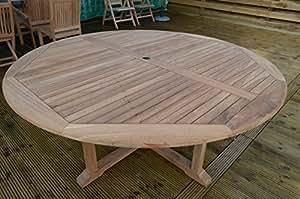 patio essentials dorchester gartentisch f r 6 8 personen rund berkreuzte beine 1. Black Bedroom Furniture Sets. Home Design Ideas