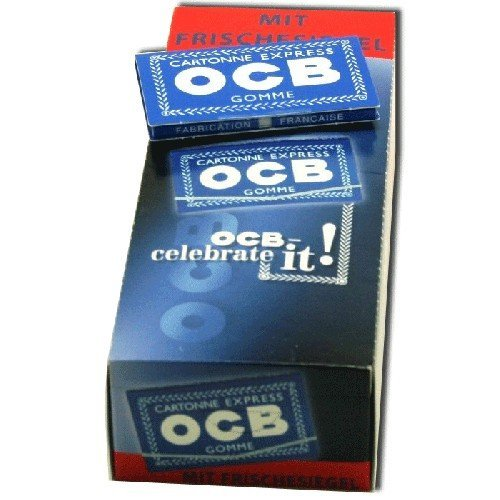 OCB 1000 Blau Gummizug 25 Heftchen, 100 Blatt