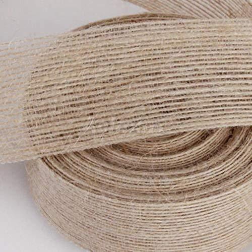 3,8cm (W) 10Yard (L) Jute Jute Band Rustikal Hochzeit Event Tortenaufsatz Decor Handwerk DIY Wrapper-Werkzeug