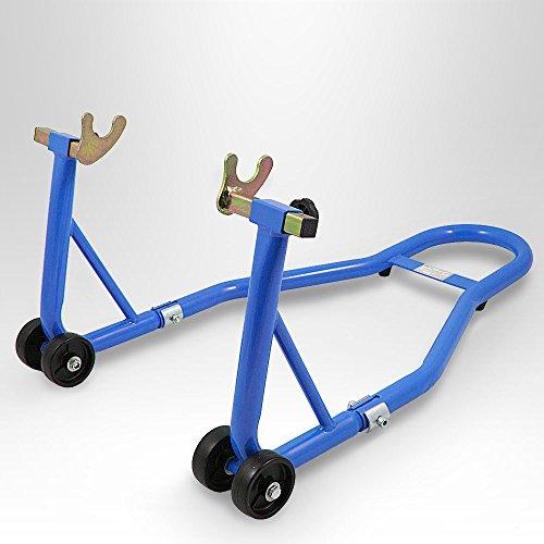 BITUXX® Motorradständer hinten Motorrad Montageständer Hinterrad Transportständer Blau für viele gängige Motorräder